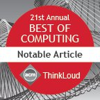 ACM Computing Reviews - Notable Article 2016